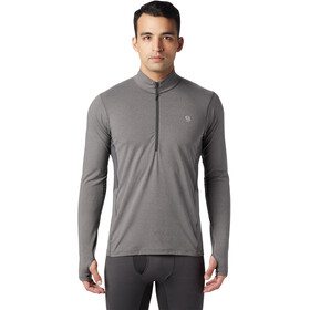 Mountain Hardwear Ghee Longsleeve met 1/2 rits Heren, heather shark